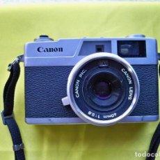 Appareil photos: ANTIGUA CÁMARA CANON CANONET 28 ,CON SU FUNDA ORIGINAL DE LOS AÑOS 1971. Lote 269002594