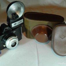 Cámara de fotos: CAMARA AGFA CLIK II CON FLASH AGFA Y ESTUCHE. Lote 270003343