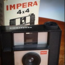 Câmaras de fotos: CÁMARA INDO IMPERA, FORMATO 127, AÑOS 50. CAJA ORIGINAL.. Lote 276221078