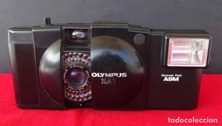 CÁMARA OLYMPUS XA-1 CON FLASH A9M (Cámaras Fotográficas - Clásicas (no réflex))