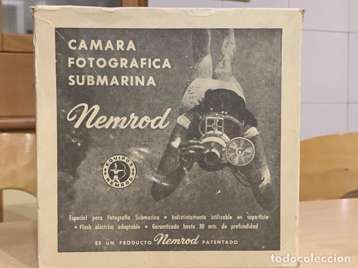 Cámara de fotos: CAMARA SUBMARINA NEMROD SILURO MODELO A 1 FABRICADA EN ESPAÑA - Foto 3 - 283887128