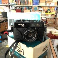 Cámara de fotos: CAMARA YASHICA MG-1 CON CAJA FUNDA Y MANUAL ORIGINAL. Lote 288502363