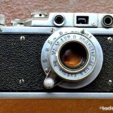 Cámara de fotos: SOVIET .RANGEFINDER CAMERA ZORKI-1 FILM 35MM+LENS INDUSTAR-22 USSR RUSSIAN LEICA. Lote 288507658