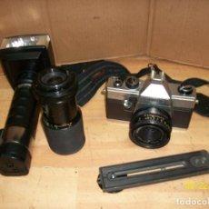Cámara de fotos: CAMARA PRAKTICA SUPER TL 1000 CON ACCESORIOS. Lote 289017688