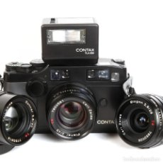 Fotocamere: CONTAX G2 - EQUIPO CON ZEISS : PLANAR 45MM + BIOGON 28MM + SONNAR 90MM + FLASH TLA 200. Lote 289333478