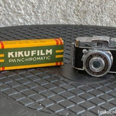 Cámara de fotos: CAMARA NUEVA MYCRO III A F=20MM COATED SAWA CARRRETES KIKUFILM 1957 FUNDA PIEL MARRON MADE IN JAPAN. Lote 296852833