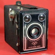 Cámara de fotos: AGFA SYNCHRO BOX. Lote 297376928