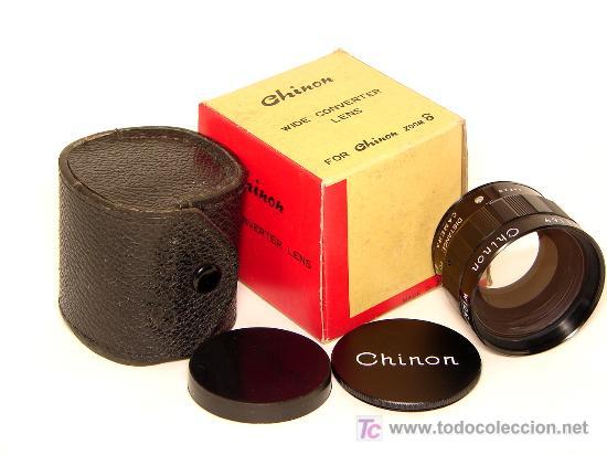 CHINON WIDE CONVERTER LENS PARA CHINON ZOOM 8, F=7.5 23 MM, A ESTRENAR (Cámaras Fotográficas Antiguas - Objetivos y Complementos )