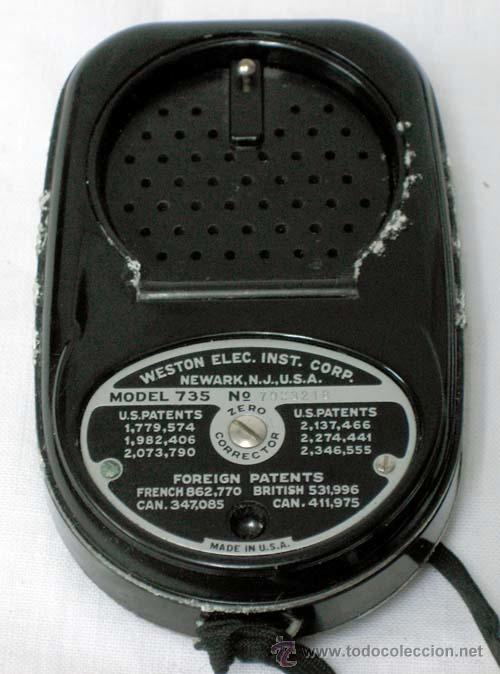 Cámara de fotos: Fotómetro Weston Master II Universal Exposure Meter Modelo 735 Made in USA sin probar - Foto 2 - 31535086