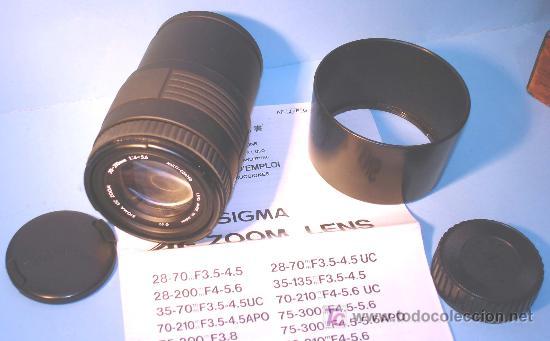 Cámara de fotos: OBJETIVO SIGMA UC AF-ZOOM..TELEOBJETIVO 70-210...PARA MINOLTA AF......;;; - Foto 7 - 27106984