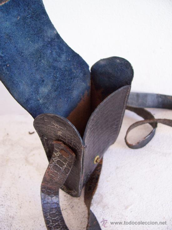 Cámara de fotos: funda de cuero para pequeña camara de fuelle (13x7,5x3cm aprox) - Foto 2 - 21291811
