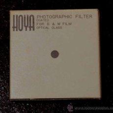 Cámara de fotos: HOYA PHOTOGRAPHIC FILTER COATED B&W FILM OPTICAL GLASS 34,0S MM UV (0).. Lote 12727170