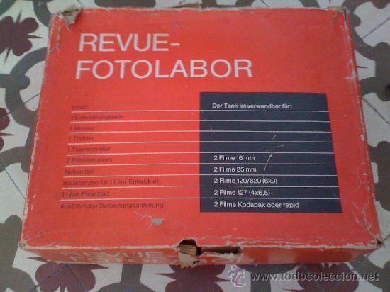 Cámara de fotos: Equipo completo de revelado fotográfico. En su caja original. Años 60. - Foto 4 - 24976576