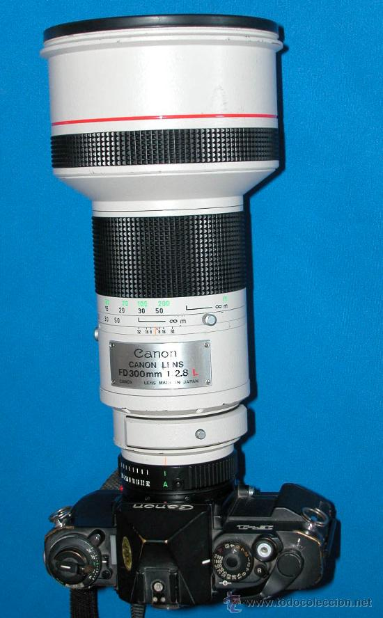 Cámara de fotos: CANON LENS - FD 300 mm 1:2.8 L - PROFESIONAL - MUY LUMINOSO - CANON ORIGINAL- CAMARA F1 NO - Foto 2 - 26269957