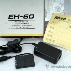 Cámara de fotos: NIKON EH-60 AC ADAPTADOR COOLPIX 2500 Y 3500 NUEVO. Lote 27216268