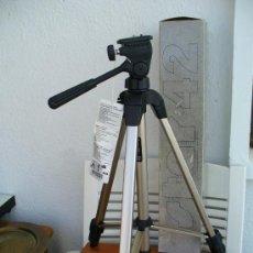 Cámara de fotos: TRIPODE CAMARA VIDEO Y FOTO. ALEMAN. (NUEVO) MEDIDAS:57CM ABIERTO 1,52CM .( MUY SEGURO). Lote 27547392