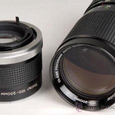 Cámara de fotos: VIVITAR ZOOM 100-200MM/4 + DUPLICADOR -PARA CANON. Lote 26280688