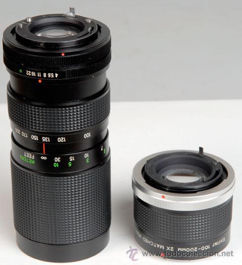 Cámara de fotos: VIVITAR ZOOM 100-200MM/4 + DUPLICADOR -PARA CANON - Foto 2 - 26280688