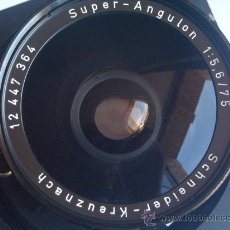 Cámara de fotos: SCHNEIDER KREUZNACH SUPER ANGULON 75MM F5,6 OBTURADOR COPAL N0.0 PERFECTO.. Lote 26841397