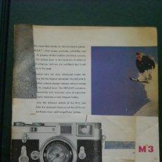 Cámara de fotos: LEITZ LITERATURA LEICA M3 EN INGLES 20 PAGINAS COMPLETO.. Lote 27917796