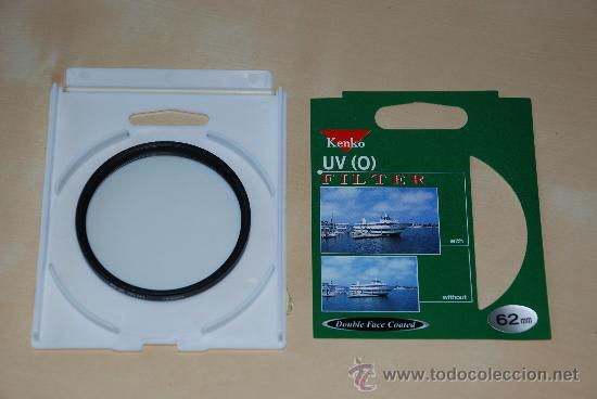 FILTRO KENKO UV (0) 62 MM (Cámaras Fotográficas Antiguas - Objetivos y Complementos )