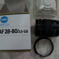 Cámara de fotos: TELEOBJETIVO MINOLTA AF 28-80/3,5-5,6 EN SU CAJA. Lote 28230797
