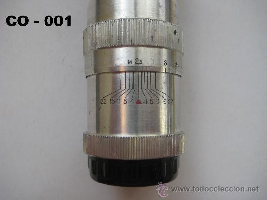 Cámara de fotos: OBJETIVO RUSO JUPITER - 11 DE 135 mm. PARA ZORKY, FED ... ROSCA 39 mm. ENVÍO CERTIFICADO GRATUITO. - Foto 3 - 28415776