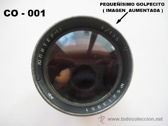 Cámara de fotos: OBJETIVO RUSO JUPITER - 11 DE 135 mm. PARA ZORKY, FED ... ROSCA 39 mm. ENVÍO CERTIFICADO GRATUITO. - Foto 5 - 28415776