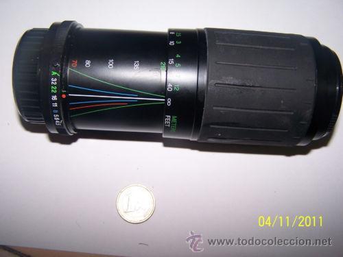 COSINA 70-210M 1:4.5-5.6 MC MACRO LENS 52 (Cámaras Fotográficas Antiguas - Objetivos y Complementos )