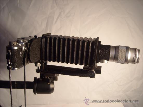 LEITZ FOCASLIDE OOZAB Y FUELLE UXOOR ELMAR HEKTOR PARA LEICA I II III LSM LTM M39 AÑOS 50 PERFECTOS (Cámaras Fotográficas Antiguas - Objetivos y Complementos )