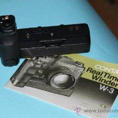 Cámara de fotos: EMPUÑADURA Y MOTOR -REAL TIME WINDER CONTAX W3 PARA RTS-RTS II QUARTZ.- IDEAL COLECCIÓN. Lote 30845549