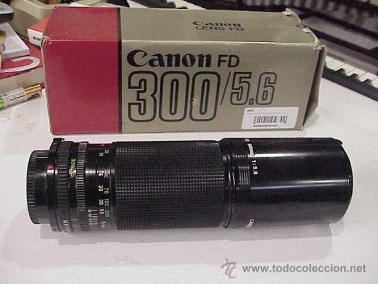 CANON FD 300 F/5,6.EN ESTADO NUEVO. (Cámaras Fotográficas Antiguas - Objetivos y Complementos )