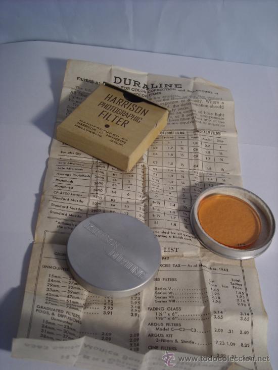 Cámara de fotos: Filtro Harrison C4 Naranja en su caja con funda metalica e instrucciones originales 42mm - Foto 2 - 31255153