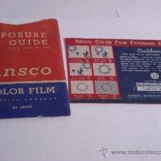 Cámara de fotos - Ansco exposure guide calculador de exposición ansco completo folleto y funda - 31275906