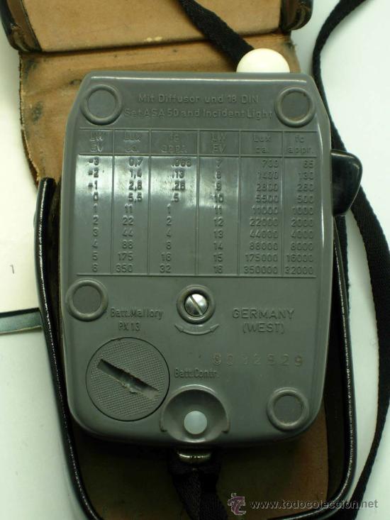 Cámara de fotos: Fotómetro Sixtar con instrucciones y funda Made in West Germany no funciona - Foto 4 - 31456689