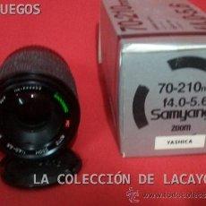 Cámara de fotos: OBJETIVO SAMYANG 70 - 210 MM F.4.0 - 5.6 ZOM PARA YASHICA. Lote 31923996