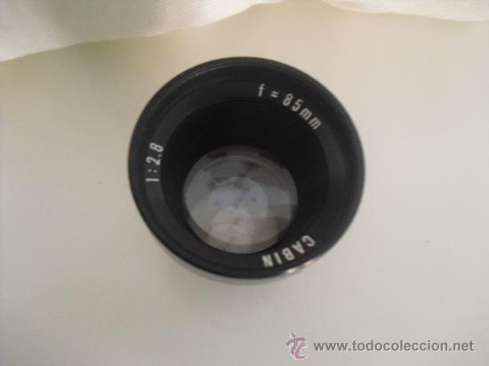 OBJETIVO, CABIN. 1 . 2,8. F = 85 MM (Cámaras Fotográficas Antiguas - Objetivos y Complementos )