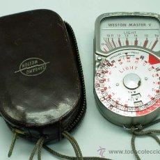 Cámara de fotos - Fotómetro Weston Master V Sangamo Universal Exposure Meter Made in USA con funda - 32129113