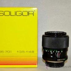 Cámara de fotos: SOLIGOR 35-70MM F/3,5-4,8 MONTURA MINOLTA. Lote 32857014