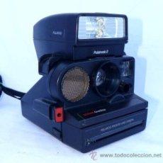 Cámara de fotos: UNICA! CAMARA FOTOS VINTAGE POLAROID SONAR CON POLATRONIC 2 FLASH . Lote 34172197