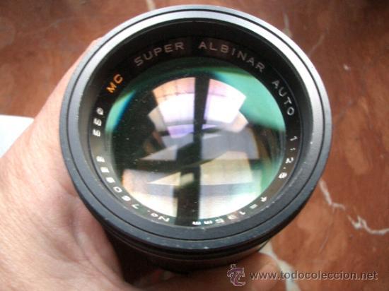 SUPER ALBINAR 135MM F2.8 DE BAYONETA PERO DESCONOZCO MONTURA. (Cámaras Fotográficas Antiguas - Objetivos y Complementos )