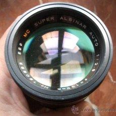 Cámara de fotos: SUPER ALBINAR 135MM F2.8 DE BAYONETA PERO DESCONOZCO MONTURA.. Lote 35447811