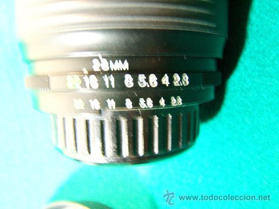 Cámara de fotos: OBJETIVO COSINA ZOOM 28-105 MM. - AUTOFOCUS - 1:2,8 - 3,8 MC - JAPAN - PARASOL - PERFECTA - AÑO 2008 - Foto 2 - 36890381