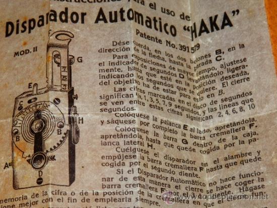 Cámara de fotos: AUTO DISPARADOR AUTODISPARADOR CAMARAS HAKA AUTOKNIPS II FUNCIONANDO INSTRUCCIONES EN CASTELLANO VER - Foto 4 - 38098984