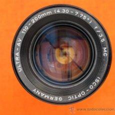 Cámara de fotos: ISCO-OPTIC GERMANY ULTRA-AV 110-200MM F3.5 MC. Lote 38364000