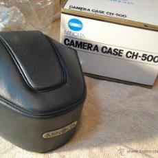 Cámara de fotos: FUNDA CAMARA MINOLTA REFLEX. MODELO CH-500 NUEVA SIN USO. Lote 39423874