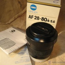 Cámara de fotos: MINOLTA LENS AF 28-80/4-5.6....OBJETIVO,,NUEVO SIN USO ...3 UNIDADES DISPONI. Lote 39423953