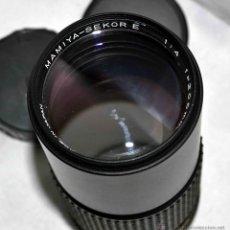 Cámara de fotos: OBJETIVO REFLEX..EXCELENTE TELE DE 200MM, F:4..MAMIYA SEKOR E....FUNCIONA. Lote 96490279