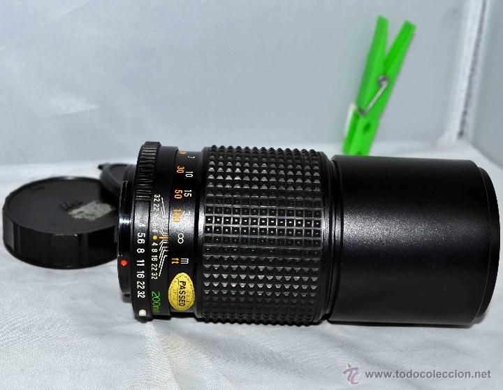 Cámara de fotos: OBJETIVO REFLEX..EXCELENTE TELE DE 200mm, f:4..MAMIYA SEKOR E....FUNCIONA - Foto 2 - 96490279
