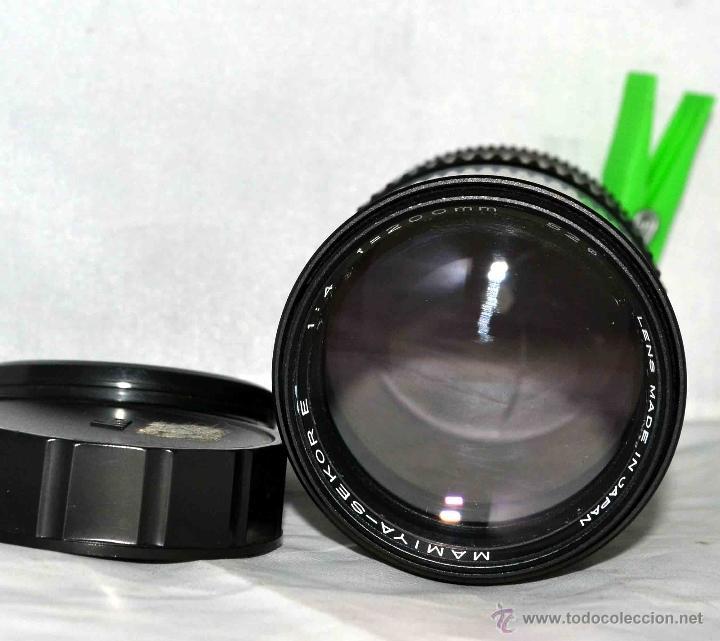 Cámara de fotos: OBJETIVO REFLEX..EXCELENTE TELE DE 200mm, f:4..MAMIYA SEKOR E....FUNCIONA - Foto 7 - 96490279